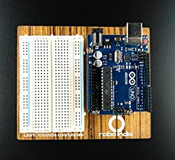 Arduino UNO R3 Compatible Breadboard Kit with Breadboard, Wooden base and USB Cable