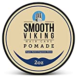 Strong Pomade for Men - Best Hair Styling Formula for Maximum Hold and High Shine - Perfect for Straight, Thick and Curly Hair - Smooth Viking