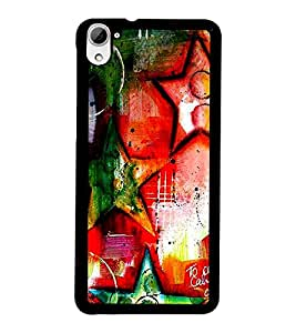 PrintDhaba Art Hub D-1244 Back Case Cover for HTC DESIRE 826 (Multi-Coloured)