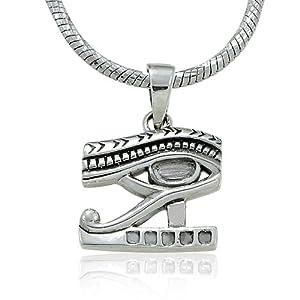 Amazon.com: 925 Sterling Silver Eye of Horus Medallion, Egypt Eye
