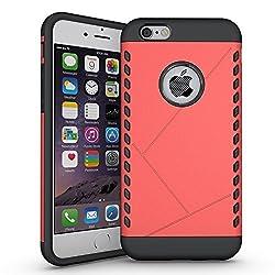 iPhone 6S Plus Case, Pasonomi [Shield Armor] Hybrid High Impact Dual Layer Defender Protective Case Cover for Apple iPhone 6S Plus 2015 Smartphone (Shield Series Orange)