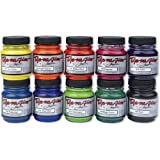 Jacquard Dye-Na-Flow Specialty Paint Set, 2-1/4 Ounce Jar, Assorted Colors, Set of 10
