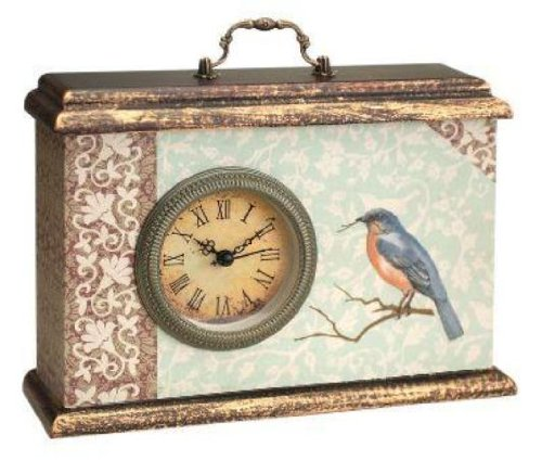 Manual Woodworkers & Weavers Time Well Spent Blue Bird Desk Clock