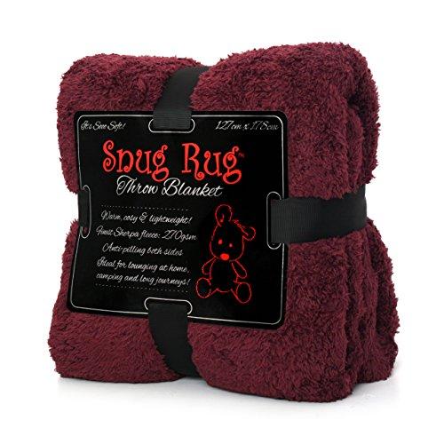 Snug Rug - Coperta in pile, edizione speciale, colore: mora, 127 x 178 cm