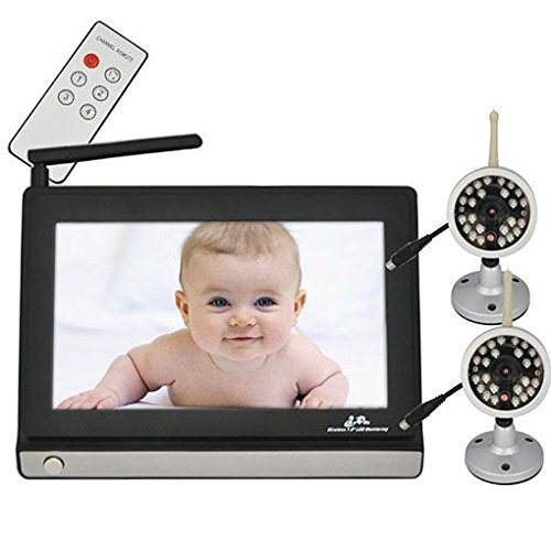 """Wireless Video Baby Monitor With Two 2.4G Cctv Camera 7"""" Tft Lcd 4Ch Baby Care Safety Health front-277211"""