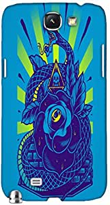 Timpax protective Armor Hard Bumper Back Case Cover. Multicolor printed on 3 Dimensional case with latest & finest graphic design art. Compatible with Samsung Galaxy Note II N7100 Design No : TDZ-28022