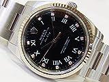 (ロレックス)ROLEX 腕時計 エアキング 11Pダイヤ ブラック 114234G メンズ 中古