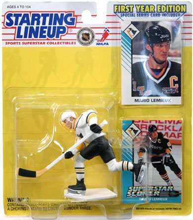 Starting Lineup 1993 NHL Carded Mario Lemieux (Pittsburgh Penguins) C-9 フィギュア ダイキャスト 人形(並行輸入)