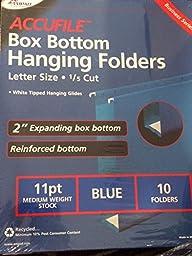 Accufile Box Bottom Hanging Folders Blue