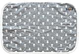 スカル柄 まくらパッド 6重織 ガーゼ 約43×63cm用 スモーキーブラック