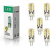 ELINKUME 5X G4 Ampoule LED 3W Économie d'énergie Ampoule Lampe 24 SMD 2835 LED Lampe 260LM Blanc Chaud DC12V Intérieur LED