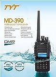 TYT Tytera MD-390 DMR Digital Radio, Waterproof Dustproof IP67 Walkie Talkie Transceiver, UHF 400-480MHz Two-Way Radio, Compatible with Mototrbo, 1000CH, Black