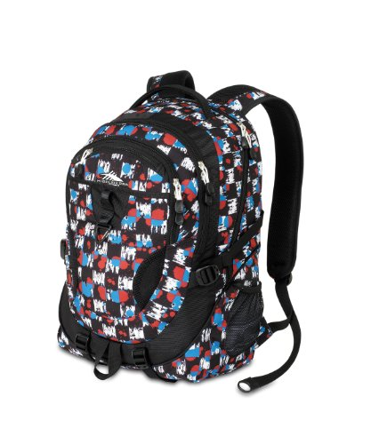 High Sierra 2350-Cubic Inches Stalwart Daypack (Grunge Checker, Black)