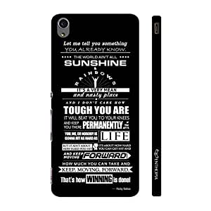 Enthopia Designer Hardshell Case Rocky's Speech 2 Back Cover for Sony Xperia M4