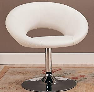 White Leisure Bar Chair - Coaster 120353 by Coaster