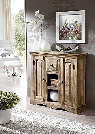 In legno massiccio Sheesham coloniale mobili in legno di palissandro massiccio oliato credenza grigio Möbel grigio Robin #45