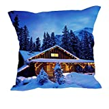 MeSleep Merry Christmas Cushion Covers In Digital Print - B018K9JAGM