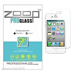 Zoop Premium 2.5D Rounded 9H 2.6mm Anti Burst Tempered Glass for Apple iphone 5