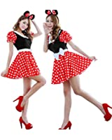 Vakind® Sexy Lingerie Disney Mickey Mouse Halloween Costumes Fancy Dress Up Cosplay dress