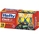 Hefty E8-6720 39-Gallon Cinch Sak Lawn and Leaf Bags, 18-Count (Discontinued by Manufacturer)