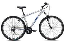 SE Bikes Big Mountain 21-Speed Hard Tail Mountain Bicycle, Silver, 21 Inch
