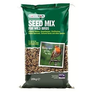 Gardman 20kg Bag Sack Of Wild Bird Seed Mix Food/feed