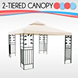 """Garden Winds Sunjoy Gazebo 10 10 Replacement Corner Pocket Canopy"