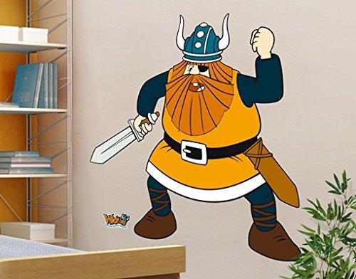 Wandtattoo Wickie Halvar Kinderzimmer Wikinger Abenteuer Junge Freund, Größe:30cm x 30cm jetzt kaufen