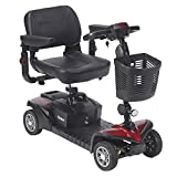 Drive Medical Scout DST 4-Wheel Travel Scooter, Red and Blue