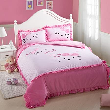 pink king sized hello kitty bedding