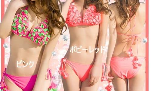 ビキニ2点セット☆水着☆(M, ピンク)