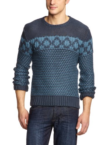 Wrangler Crew Knit Men's Jumper Midnight Navy Medium