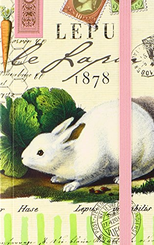 Michel Design Works Naturalist Library Pocket Journal, Bunnies