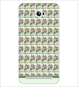 PrintDhaba House Pattern D-1480 Back Case Cover for ASUS ZENFONE MAX ZC550KL (Multi-Coloured)
