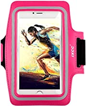 [Apple iPhone 6plus Armband] iXCC ® Racer Series Easy Fitting [Sport Gym Bike Cycle Jogging Running Walking] Armband - Featured with Scratch-Resistant Material, Slim Lightweight, Dual Arm-Size Slots (for Small and Large Arms), Sweat Proof and Key Pocket, also Fits with iPhone 4/4s/5/5c/5s/6 and iPod. [Pink]