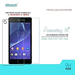 Nillkin Amazing H+ Tempered Glass Screen Protector front for Sony Xperia Z2 D6502 D6503 D6543 Back Guard NOT Tempered Glass