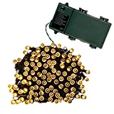 Qedertek 52.5ft Battery Fairy String Lights, 200LED lights With 8 Modes for Christmas Tree, Party, Outdoor, Indoor, Curtain, Patio, Xmas, House, Holiday, Lawn (Warm White)