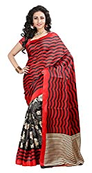 Balkrishna Fabrics Women's Bhagalpuri Silk Sarees (Multi-Coloured)