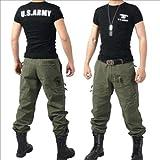 ジャケット 空挺デザイン ミリタリー 迷彩  《メンズ》 ジャケット   通気性 《 通気性 》《Tシャツ》 グリーン