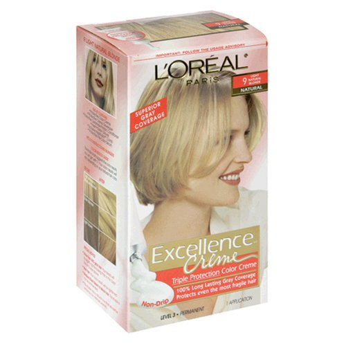 L'Oreal Excellence Creme Haircolor, Light Natural Blonde 9