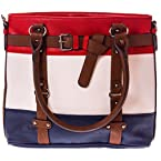 Red, White and Blue Striped Bag