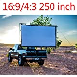 New 250Inches 4 3 16 9 Wall Mounted Canvas Curtain Front Projection Film Projector Screen For Mini LED Projector...