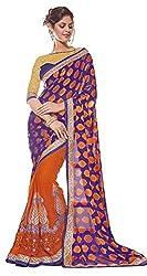 Bhagawati Women's Georgette Saree BS-015_Multicolor