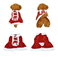 Yoption Dog Puppy Pet Christmas Skirt Santa Claus Dress Costume Dog Outwear Coat Apparel