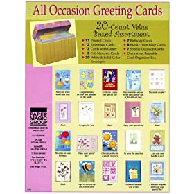 Save on Paper Magic All Occasion Boxed Greeting Card Assortment 20-ct at Amazon.com till supplies last