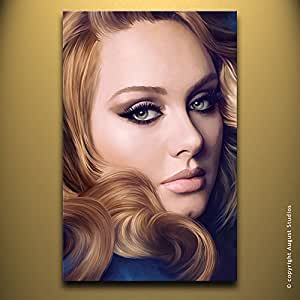 Amazon.com: ADELE Original Artwork Artist Signed Canvas Art Print