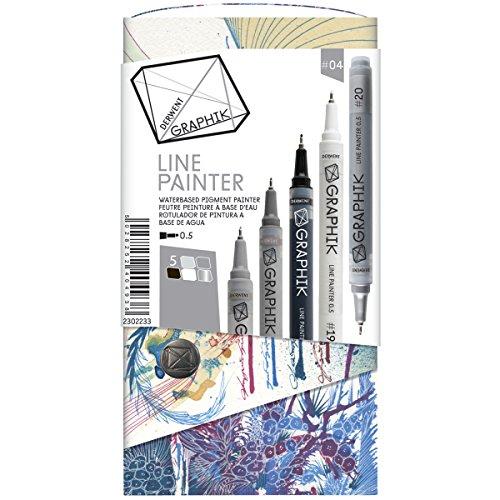 derwent-graphik-line-painter-bunte-fineliner-palette-nr-1-5-stuck-packung-5-jungle-graphite-magic-sn