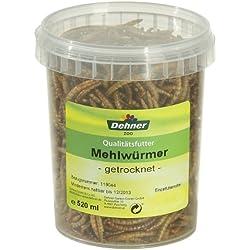 Dehner Vogel-, Nager-, und Fischfuttersnack, getrocknete Mehlwürmer, 520 ml