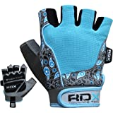 RDX Women's Amara Leather Gym Weight Lifting Gloves Crossfit Training Fitness Exercise
