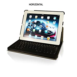 Genuine Leather 360 Degree Case with DETACHABLE Bluetooth Keyboard for Apple iPad – KHOMO